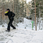 Frisbeegolf talvella